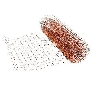 Drahtgeflecht Kupfer blank Masche 25x25mm Breite: 35cm Länge: 100 Meter