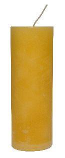 Rustic Zylinderkerze CREME-Gelb 200x70mm durchgefärbt