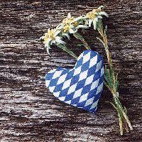 Servietten 33cm Design BLAU-WEISS 373643 Edelweiss bayrische Herzlichkeit