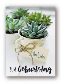 Minikarten Alles Liebe zum Geburtstag Urban Jungle 9414