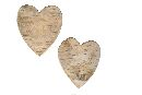 Birkenholz Artikel Natur Birkenherz 6 cm Herz