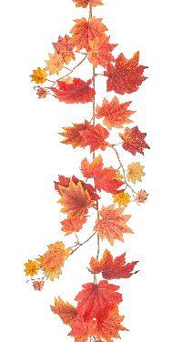 Ahornlaubgirlande herbstlich orange 180 cm 1043639