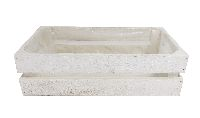 Holzkiste mit Folie WEISS 19262 30x16,5x8,5cm
