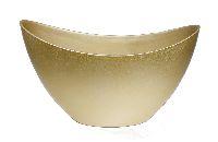 Schiffchen Kunststoff GOLD 24x10x14cm  90689 223181