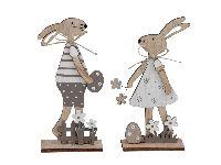 Hasenpaar Osterliebe NATUR 355580 9,5x5x20cm 20cm 2erSortierung Mann+Frau