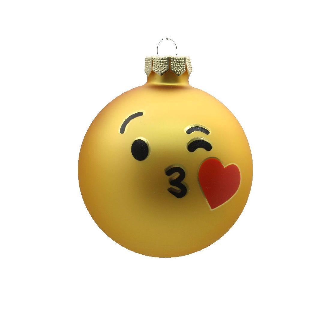 Glaskugel Emoji 60216 Kiss  8 cm