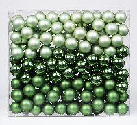 Spiegelbeeren / Glaskugeln 15303 Winter Fern 25mm Draht Spiegelbeeren