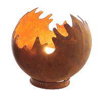 Feuerkugel Windlicht ROST 64214  Metall Ø15cm H16cm Feuerball