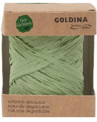 Raffia Band NATURE pastellgrün biologisch abbauba B:10mm L: 50 Meter   8207 543