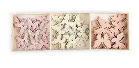 Streudeko Sweet Butterfly ROSA-BEIGE-ARPCOT 20061102 2cm+2,5cm+3cm  Holz