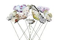 Schmetterling am Wipppick BUNT 12-fach 20421303 3-6cm GL:30cm Polyester