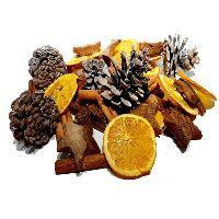 Weihnachtsdekomix Zimt + Sterne + Zapfen  CK 45-teilig Orangenscheiben +