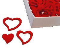 Streudeko Herz Love ROT 20762201 Filzherz 2cm+3cm+4cm 3-fach sortiert