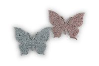 Filz Streudeko Wollart altrosa-blau 21761100 Schmetterling 5,5cm selbstkleb
